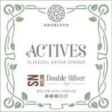 KNOBLOCH ACTIVES Double Silver SN NYLON, Treble Single String