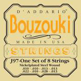 D'ADDARIO Bouzouki-Greek 8 strings Nickelplated Steel Wound