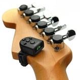 Planet Waves NS Micro Headstock Chromatic Tuner & Metronome, with piezo pickup (battery CR2032 included), Black
