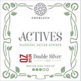 KNOBLOCH ACTIVES Double Silver QZ NYLON, Treble Single String