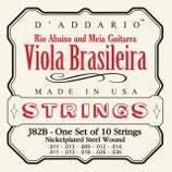 D'ADDARIO Viola Brasileira, Rioabaixo 10-String .011-.036 Nickelplated Steel Wound