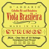 D'ADDARIO Viola Brasileira, Cebolaore 10-String .012-.034 Nickelplated Steel Wound