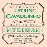 D'Addario Cavaquinho, Stainless Steel .011-.028 Wound on Steel Set