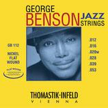 THOMASTIK GEORGE BENSON JAZZ STRINGS Nickel Flat Wound