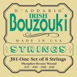 D'ADDARIO Bouzouki-Irish 8 strings Phosphor Bronze Wound