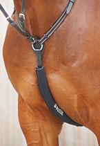 Brustschoner und passiver Schutz gegen Sturz durch hängenbleiben mit den Eisen im Vorderzeug!