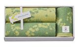 ミアミモザ 今治タオル セット(フェイスタオル2枚&ハンドタオル1枚)色:グリーン【MM10300GR】