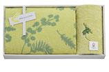 ミアミモザ 今治タオル セット(バスタオル1枚&刺繍入りフェイスタオル1枚)色:クリーム【MM10500C】
