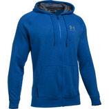 Under Armour Sportstyle Fleece Full Zip Royal / Overcast Gray / White