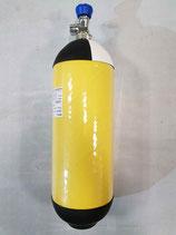 Atemluftflasche / Druckluft-Flasche 9,0 L / 300 bar, CFK NLL (unbegrenzter Lebenszeit)