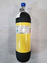 Atemluftflasche / Druckluft-Flasche 6,8 L / 300 bar, CFK NLL (unbegrenzter Lebenszeit)