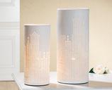 Lampe Skyline Höhe 35cm, Durchmesser 15cm