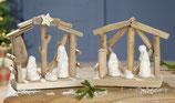 Holz Krippe mit Maria & Joseph