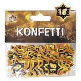 Konfetti , schwarz/gold  Kunststoff, 3 cm / 14g