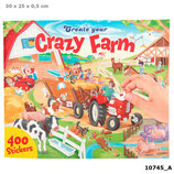Create your Crazy Farm, Malbuch mit Stickern