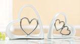 Keramik Herz in Herz