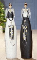 Metall LED Engel mit Geschenk und Timer Höhe 87cm