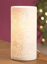 """Zylinder Lampe """"Sterne"""" weiß"""