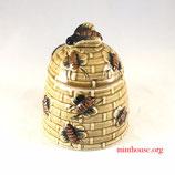 バスケットデザイン ハニーポット/ Vintage Bee Hive Honey Pot