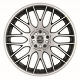 BARRACUDA KARIZZMA Mattblack-Polished / Color Trim weiss Felge 7.5x17 - 17 Zoll 4x100 Lochkreis