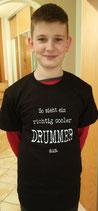 """Kurzarmshirt """"So sieht ein richtig cooler Drummer aus"""""""