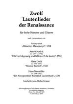 Zwölf Lautenlieder der Renaissance