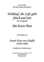 """Scheffel """"Das Frankenlied"""" und """"Die letzte Hose"""""""