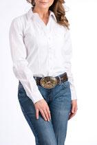 Damen Bluse von Cinch, Farbe Weiss mit Standardknöpfe.