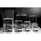 Gravures sur verre personnalisé sur cube-rectangle
