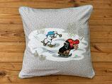 Kuschelkissen - Der kleine Maulwurf - Wettrennen im Schnee