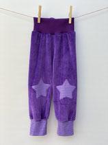 Babyhose Nicky lila + Streifen lila - Gr. 74-86