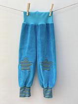 Babyhose Nicky türkis + Streifen blau/bunt - Gr. 74-86