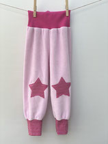 Babyhose Nicky rosa + Streifen pink /rot- Gr. 74-86