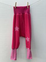 Kuschelhose Nicky pink + Streifen rosa/pink- Gr. 98-110