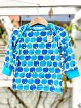 Babyshirt Graziela Äpfel blau  Gr. 74/80