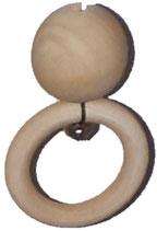 Houten bal met ring