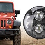 "Kit 2 Fari Anteriori LED PWR® Neri Jeep Wrangler (7"")"