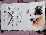 Schiefertafel Uhr ca. A3 Format