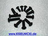 KISI-BLACK - EDELSTAHL-Schrauben schwarz oxidiert *Linsenkopf m. Innensechskant, ähnl. DIN 7380*