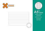 X17 A5+ Quer Notizen liniert, 2er Pack