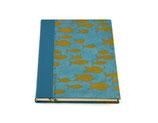 Credenza Schreibbuch Fische Blau - liniert
