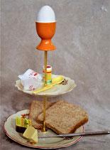 Frühstück am Bett, oder einfach upcycling in Orange. Der Muttertag kommt!