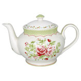 Greengate Teekanne rund Rose white