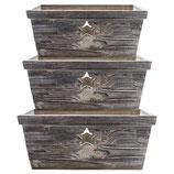 Greengate 3er Set Holzkästchen mit Stern Star