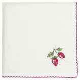 Greengate Brotkorbdeckchen Serviette Strawberry red embroidery