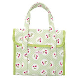 Greengate kleine Kühltasche Cherry berry pale green Cooler Lunch Bag