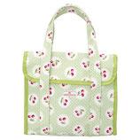Greengate kleine Kühltasche Cherry berry pale green Cooler Lunch Bag