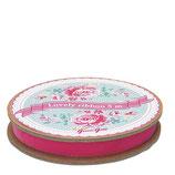 Greengate Ribbon Velvet Samtband Pink Silver