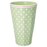 Grengate Melamin Hoher Becher Mug Spot Pale green