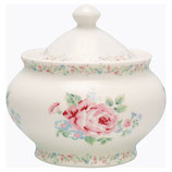Greengate Zuckerdose sugar pot Marley white